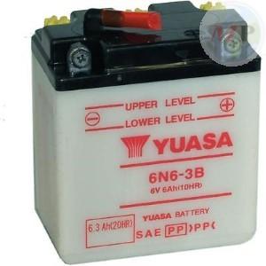E01056 BATTERIA YUASA 6N6-3B