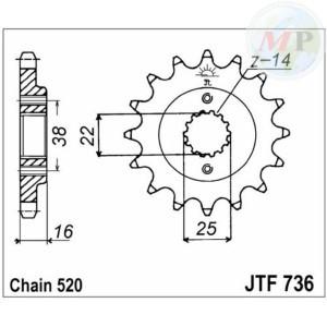 A50073616 PIGNONE JT 736 z16