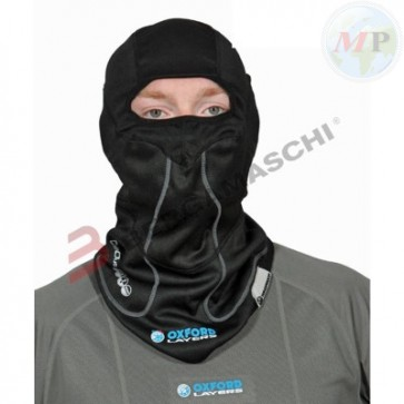 C601445X OXFORD SOTTOCASCO BALACLAVA NERO CON GIROCOLLO WINDPROOF