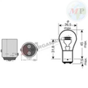 E0340001 LAMPADINA BILUX 12V 21/5W BAY15D