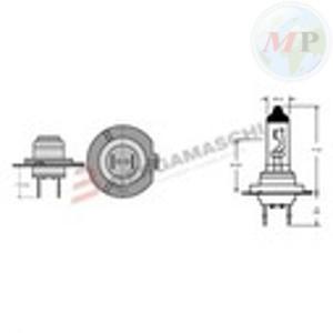 E034008 LAMPADA H7 12V 55W ALOGENA PX26D