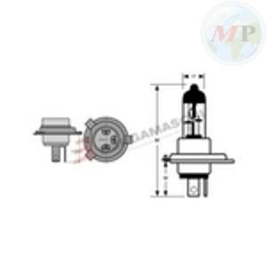 E034019 RIATEC BLISTER 2 LAMPADINE H4 12V 60/55W BLU P43T