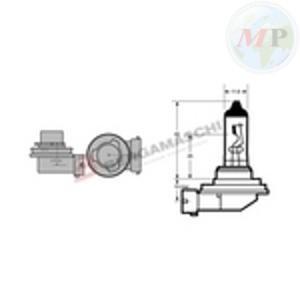 E034116 RIATEC LAMPADA H8 12V 35W ALOGENA PGJ19-1