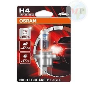 E03641933 LAMPADA OSRAM H4 12V 60/55W P43T NIGHT BREAKER LASER