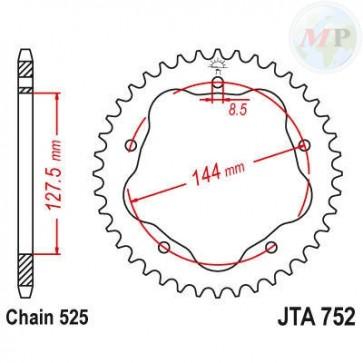 A52075240 CORONA ALLUMINIO 7075T6 JTA 752 z40