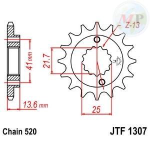 A55130715 PIGNONE JT 1307 z15RB AMMORTIZZATO