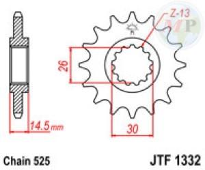 A50133216 PIGNONE JT 1332 z16