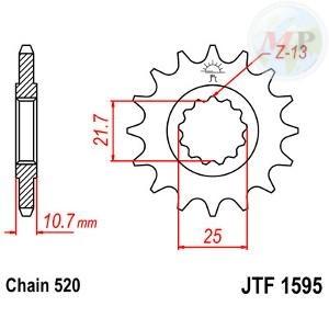 A55159516 PIGNONE JT 1595 z16RB AMMORTIZZATO