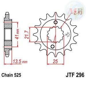 A55029616 PIGNONE JT 296 z16RB AMMORTIZZATO