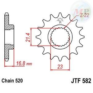 A55058216 PIGNONE JT 582 z16RB AMMORTIZZATO