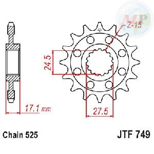A50074915 PIGNONE JT 749 z15