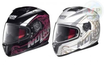 N86035-036 CASCO HELMET INTEGRALE BLOOM BIANCO-NERO PER MOTO SCOOTER E MAXI SCOOTER BRAND NOLAN
