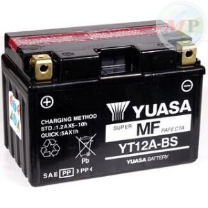 E01129 BATTERIA YUASA YT12A-BS C/ACIDO