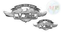 01-2991 Emblem V-Twin Large