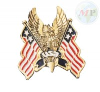 01-310 Emblem USA Flag Hawk Small