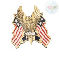 01-311 Emblem USA Flag Hawk Medium