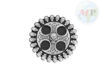 01-341 Belt + Buckle Skull / Gothic Cross