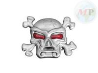 01-343 Belt + Buckle Skull & Bones
