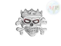 01-344 Belt + Buckle King Skull