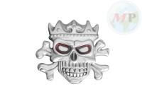 01-344 Belt + Buckle King Skull