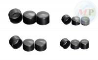 03-3262 M6 Black Hexagon Bolt Cover