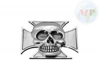 05-319 Emblem with Nut Gothic Cross & Skull