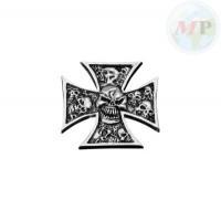 05-324 Emblem with Nut Skull Grave
