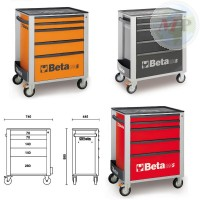 BE02400205X BETA CASSETTIERA MOBILE 5 CASSETTI E PIANO 800KG