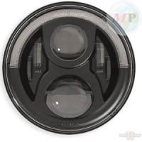 """CC619521 Speaker LED Insert 7"""" with position light Black with E-mark"""