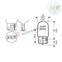E034101 RIATEC SCATOLA 10PZ LAMPADINE TUTTOVETRO 12V 21/5W T20