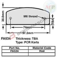 R1534002 EBC PASTIGLIE KART 17 MM RED FA534