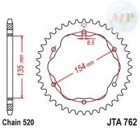 A52076238 CORONA ALLUMINIO 7075T6 JTA 762 z38