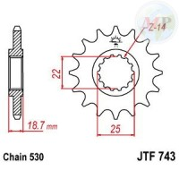 A50074315 PIGNONE JT 743 z15