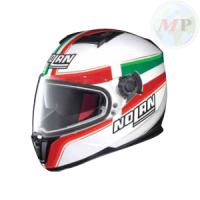 N86040 CASCO HELMET INTEGRALE ITALY COLORE METAL WHITE DA MOTO SOOTER MAXI SCOOTER BRAND NOLAN