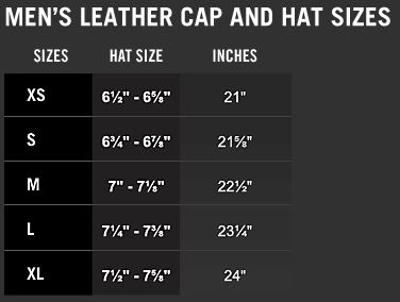 HD Taglie Leather Caps Men