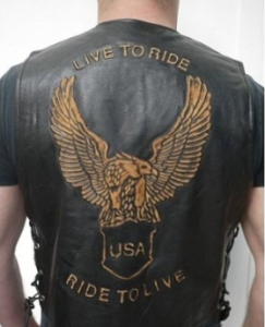 Gilet in cuoio Harley-Davidson  LIVE TO RIDE!
