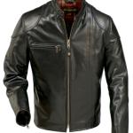 Giacca pelle rétro moto per Harley-Davidson