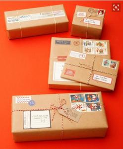 Pacchetto regalo effetto pacco postale