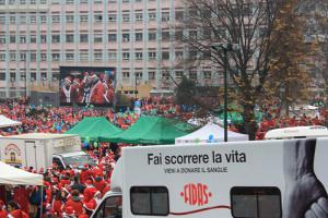 Babbo Natale in moto a Torino, bellissimo raduno!!!