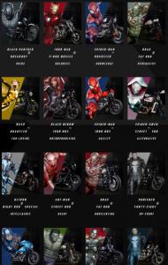 Marvel, Harley Davidson,