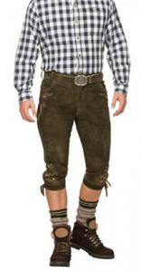 Abbigliamento e costumi in stile Oktoberfest. Leather pantaloni per Oktoberfest